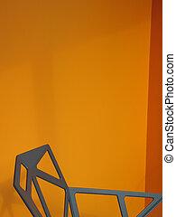 抽象的, 金属の 椅子