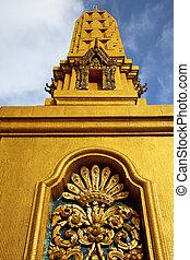 抽象的, 金属, 金, バンコク, タイ, 交差点
