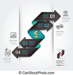 抽象的, 金融, 矢, infographics