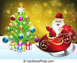 抽象的, 金, クリスマス, 背景