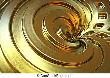 抽象的, 金, 色, バックグラウンド。, 3d, rendering.