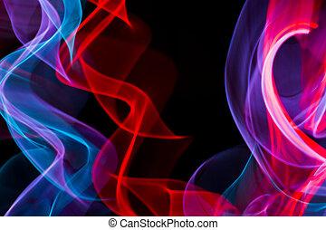 抽象的, 電気である, ネオンライト