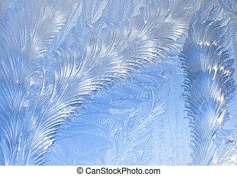 抽象的, 霜, 窓, 背景