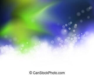 抽象的, 青い、そして緑の, 背景