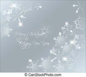 抽象的, 青い背景, クリスマス, ベクトル, ライト