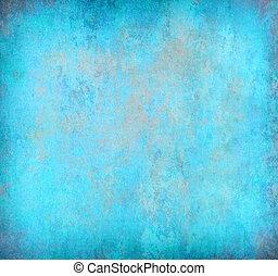 抽象的, 青, グランジ, 背景