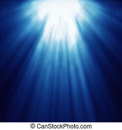 抽象的, 青, スピード, ズームレンズ, ライト, 神