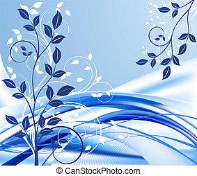 抽象的, 青, デザイン