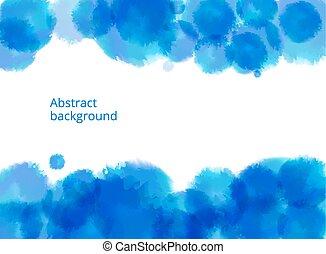 抽象的, 青, ベクトル, 背景