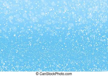抽象的, 青, ホリデー, ライト, 背景