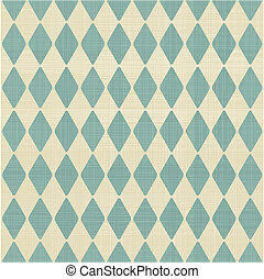 抽象的, 青, 幾何学的, レトロ, seamless, 背景, 灰色