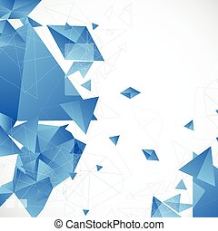 抽象的, 青, 未来派, 背景, ∥ために∥, デザイン