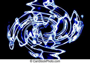 ∥, 抽象的, 青, 渦巻パターン