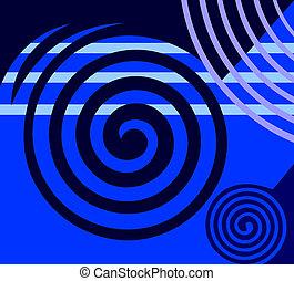 抽象的, 青, design.