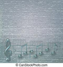抽象的, 音楽, 割れた, 背景