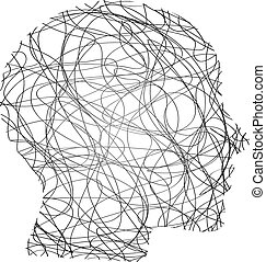 抽象的, 頭