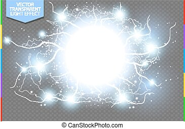 抽象的, 高圧, 特別, 青, バックグラウンド。, エネルギー, 核心, 爆発, 電力, 効果, 解任, 透明, 白熱, cluster., ライト, ショック, 稲光, ベクトル, spark., 満たされる