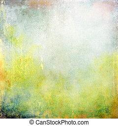 抽象的, 黄色の背景, 手ざわり