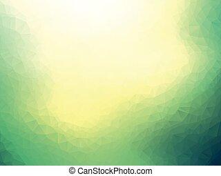 抽象的, 黄色緑, 背景, ぼやけ, 幾何学的