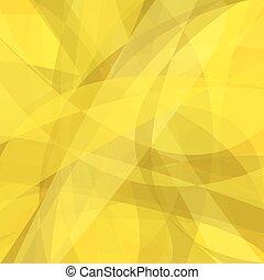 抽象的, -, 黄色, 動き, ベクトル, デザイン, 背景, 曲がった
