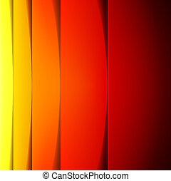 抽象的, 黄色, 形, ペーパー, オレンジ, 赤