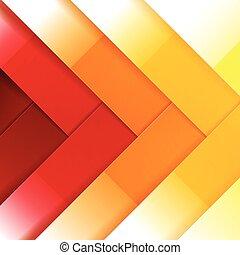 抽象的, 黄色, 形, 背景, オレンジ, 光沢がある, 長方形, 赤