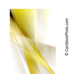 抽象的, 黄色, 滑らかである, ストライプ, 背景
