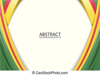抽象的, 黄色, 赤い緑, 現代, 背景