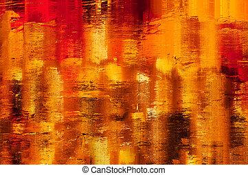 抽象的, 黄色, 金, 背景, オレンジ, 照ること