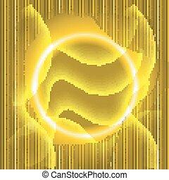 抽象的, 黄色, 金, 背景