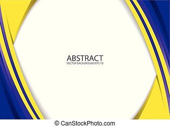 抽象的, 黄色, 青, 現代, 背景