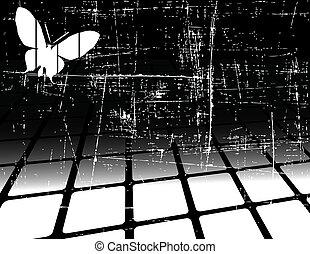 抽象的, 黒い背景, ベクトル, 白