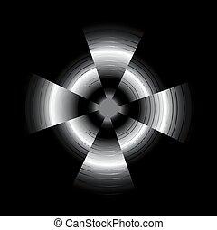抽象的, 黒い背景, 円