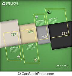 抽象的, 3d, チャート, infographics
