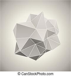 抽象的, 3d, 形態, 中に, 型, 色, ベクトル, illustration.