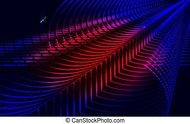 抽象的, 3d, 技術, 波, 未来派, design., バックグラウンド。