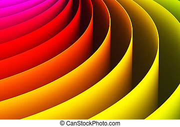 抽象的, 3d, 色, カーブ, 形, 背景