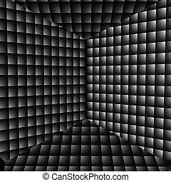 抽象的, 3d, 錯覚, 背景, 効果