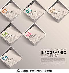 抽象的, 3d, infographics