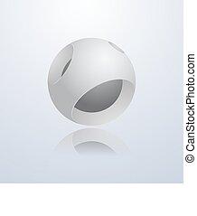 抽象的, 3d, sphere.