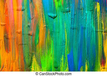 抽象的, backgrounds., 芸術, 背景, 手 - ペイントされた