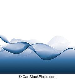 抽象的, backgroung, 波