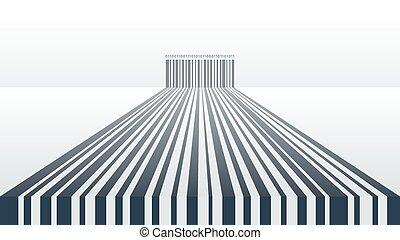 抽象的, barcode, 背景