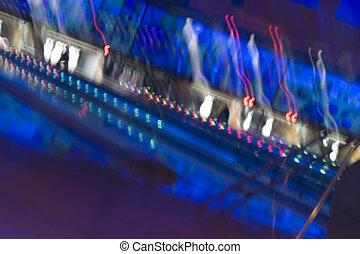 抽象的, blurry, アリー, ボウリング