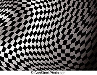 抽象的, checkered