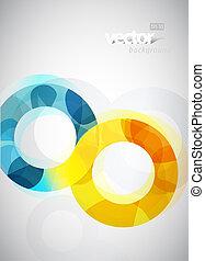 抽象的, circles., イラスト