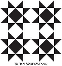 抽象的, decorativ, 要素, squiare, bassed, 背景, x4