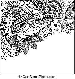 抽象的, doodles, ベクトル