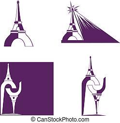 抽象的, eiffel タワー