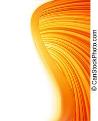 抽象的, eps, burst., 波, オレンジ, 8, 白い赤